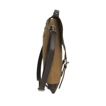 Messenger Tote leather Top Kaki