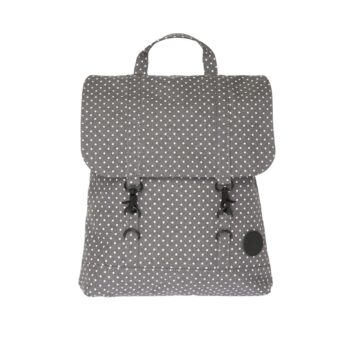 City Backpack Mini Melange Grey/ White PolkaDot