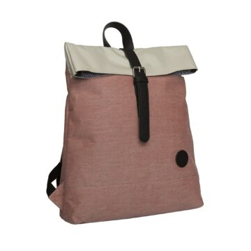 Fold Top Backpack Melange Red Natural Top